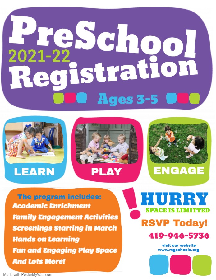 Pre-School Registration Information