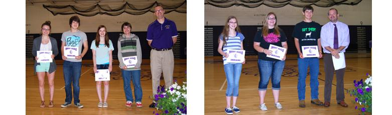Freshmen Award Recipients