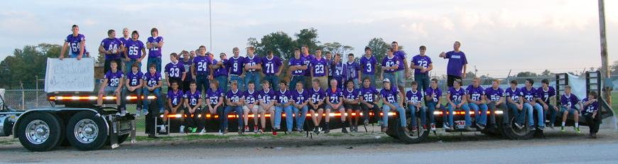 Football team ready for the Homecoming Parade