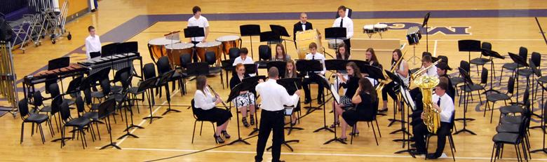 High School Band and Choir perform during their spring concert.