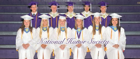 Senior National Honor Society Members