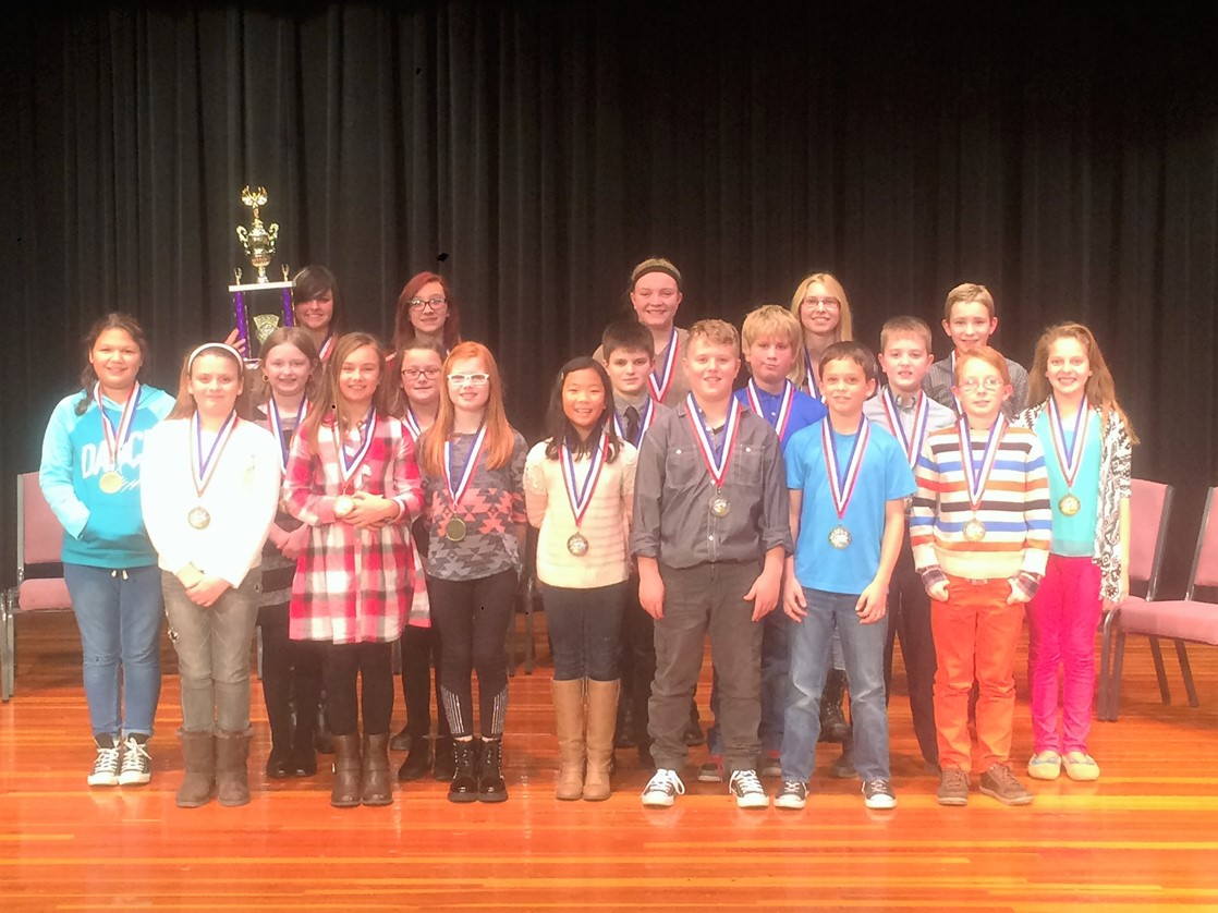 4th - 8th graders participate in the Mount Gilead Spelling Bee